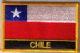 Chile Embroidered Flag Patch, style 09.